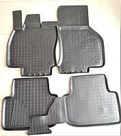 Коврики ковры салона резиновые (компл. 5 шт.) для Шкода Октавия А7 Skoda Octavia A7 высокие борты SkodaMag, фото 1