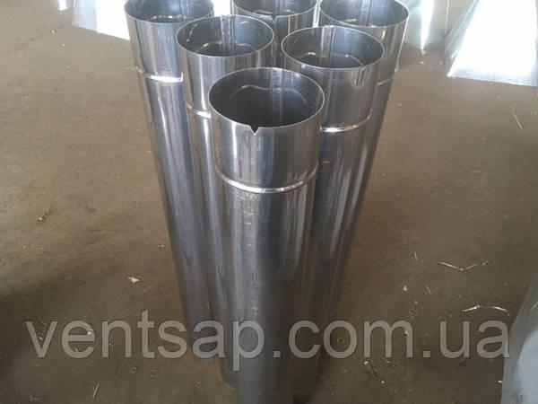 """Труба 1м , нержавейка 0,8 мм,диаметр 110 мм. дымоход, димохід: продажа,  цена в Полтаве. дымоходы и комплектующие от """"VentSAP - вентиляция, дымоходы,  водосточные системы"""" - 849494871"""