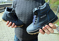Ботинки детские CrosSav z 37 синие (натуральная кожа, зима)