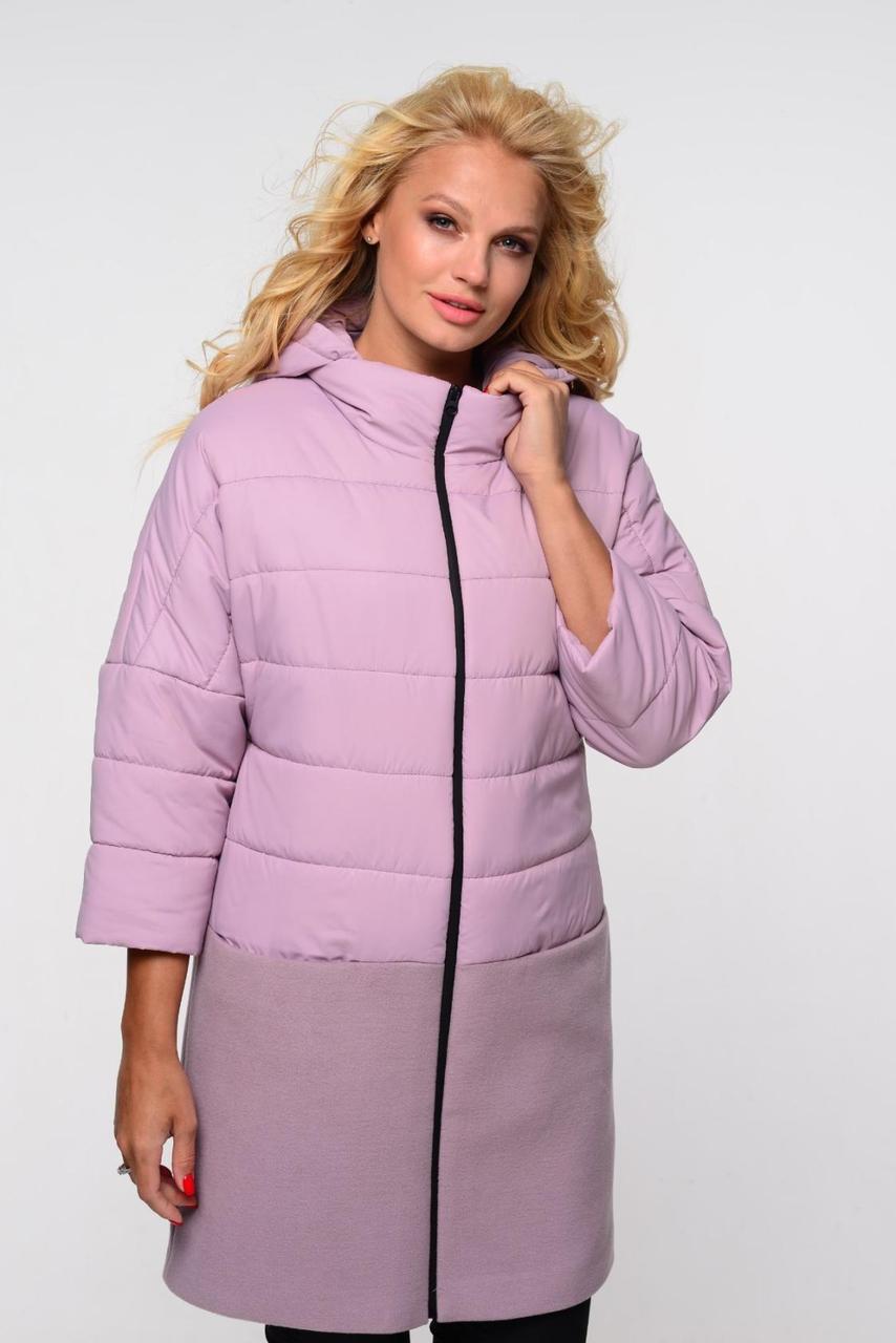 Удлиненная стеганная куртка