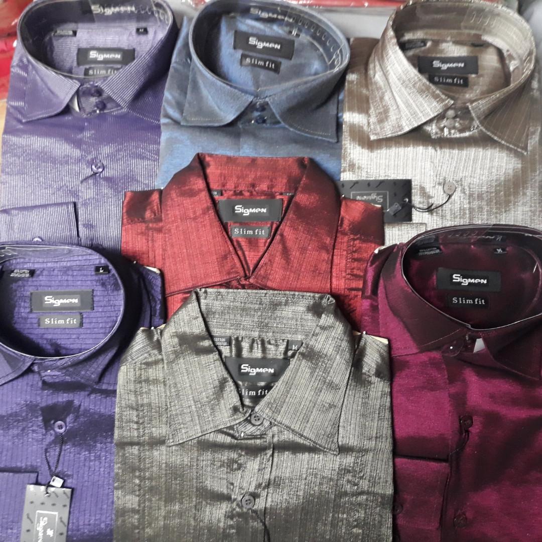 Дешевая приталенная рубашка SIGMAN в ассортименте.