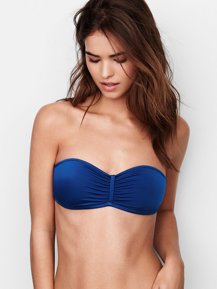 Бралетт Бандо Victoria's Secret Ruched Bandeau S, Синий