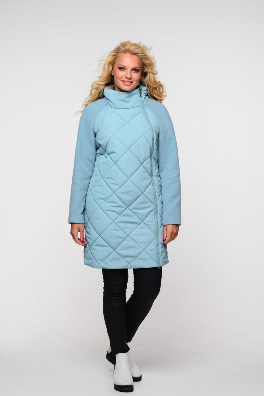 Женское пальто с боковой молнией