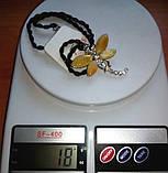 Подвеска Стрекоза 100% натуральный цельный пейзажный Янтарь вес 18г, фото 5