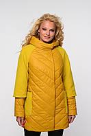 Куртка из плащевки со вставками кашемира, фото 1