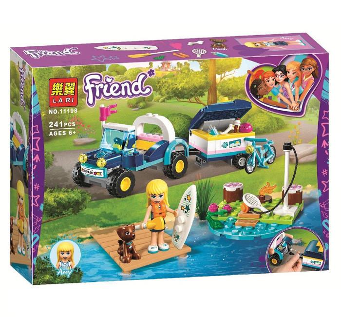 "Конструктор Bela(Lari) 11198 Френдс ""Багги с прицепом Стефани"" 241 детали. Аналог Lego Friends 41364"