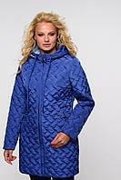 Женское стеганное пальто средней дины, фото 1