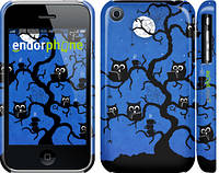 "Чехол на iPhone 3Gs Совы на дереве ""2374c-34"""