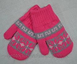Подвійні рукавички для дівчинки Qubek рожеві (MargotBis, Польща)