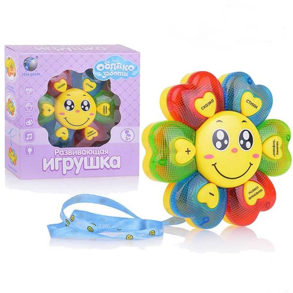 Дитяча іграшка музичний Квіточка 1104A на російській мові