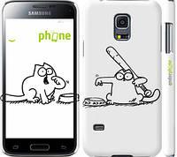 "Чехол на Samsung Galaxy S5 mini G800H Кот Саймона. Кушать! ""650c-44"""