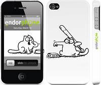 """Чехол на iPhone 4 Кот Саймона. Кушать! """"650c-15"""""""