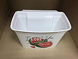 Ведро-контейнер навесное на дверцу мебели для мелкого мусора белое, фото 6