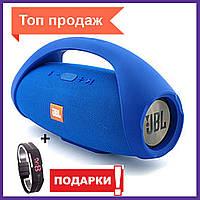 Портативная JBL BoomBox колонка с блютуз Bluetooth  беспроводная , USB, павербанк, FM + Led часы