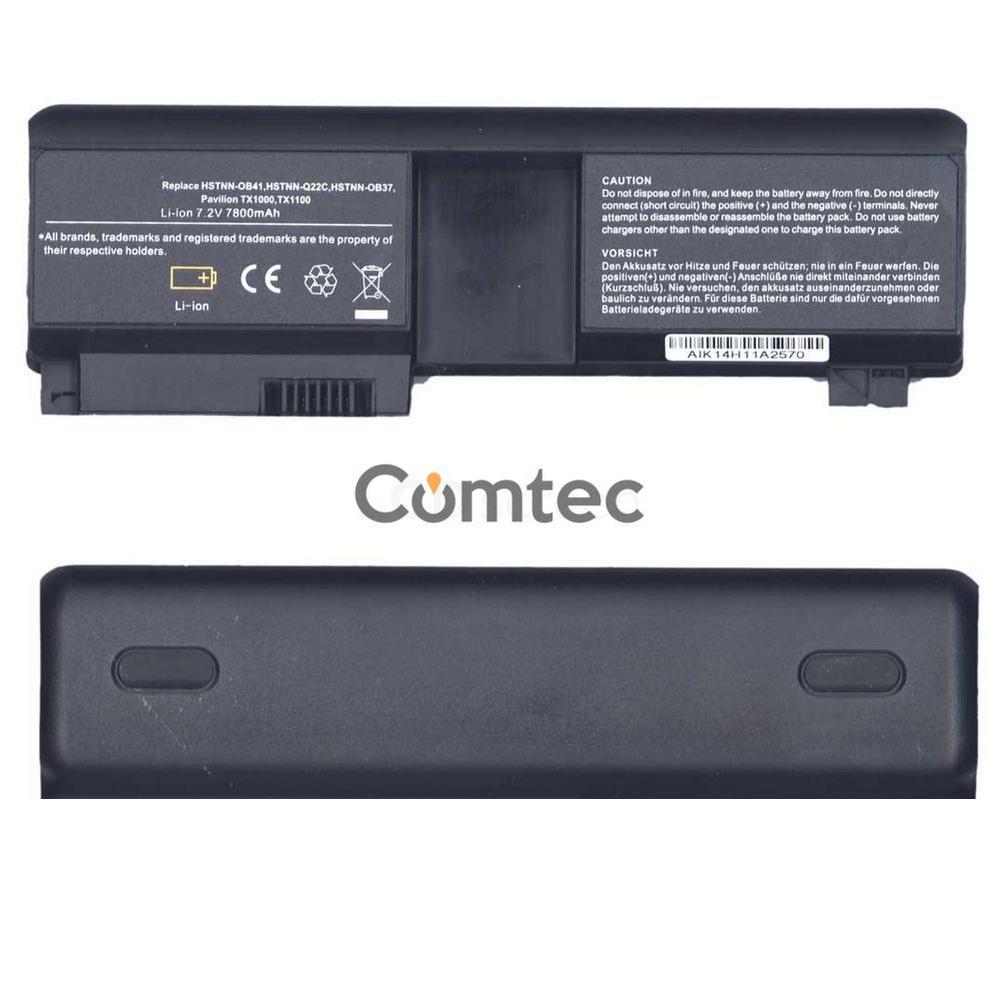 УСИЛЕННЫЙ! аккумулятор для ноутбука HP Compaq HSTNN-OB37 Pavilion TX1000 7.4V черный 6600 mAh