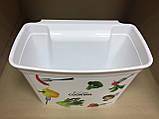 Ведро-контейнер навесное на дверцу мебели для мелкого мусора белое, фото 2