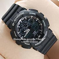 Неубиваемые спортивные наручные часы Casio G-shock GA-100 разных цветов Белый Черный Черный