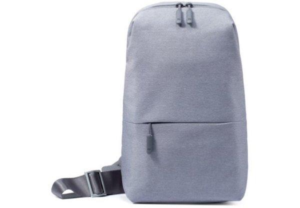 Рюкзак міський Xiaomi Mi City Sling Bag, темно-сірий, свтело -сірий. Оригінал
