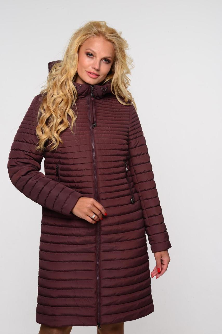 Однотонное модное пальто весна-осень