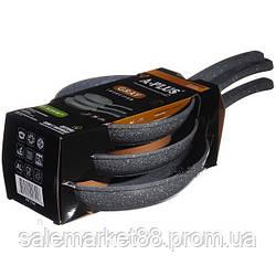Набор сковородок A-PLUS 3 шт (FP-1741) Гранитные. Диаметр 20, 24 и 28 см.