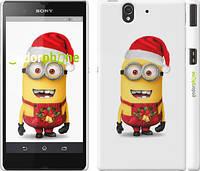 """Чехол на Sony Xperia Z C6602 Миньоны. Рождество """"1485c-40"""""""
