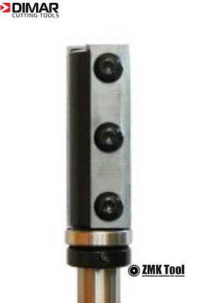 Фреза DIMAR прямая обкаточная, сменные ножи D=19 B=50 L=100 d=12 подшипник сверху, фото 2
