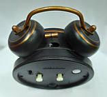 Часы-будильник черные с ретро-машиной, фото 3