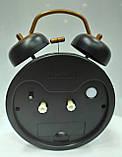 Часы-будильник черные с ретро-машиной, фото 4