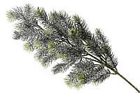 Декоративная ветка елки заснеженная, 65 см (12шт)