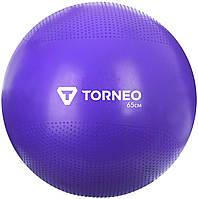 Мяч гимнастический Torneo, 65 см, фиолетовый