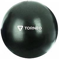 Мяч гимнастический Torneo, 75 см, Черный