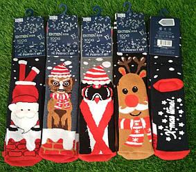 Носки детские с тормозами новогодние махровые Ekmen  (12 пар)