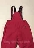 Лыжные штаны-полукомбинезон р.98 (синие и розовые), фото 5