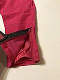 Лыжные штаны-полукомбинезон р.98 (синие и розовые), фото 7