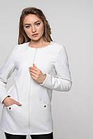 Белое короткое женское пальто