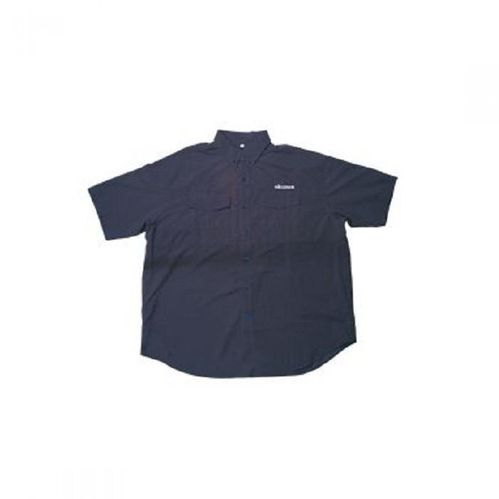 Рубашка с коротким рукавом OKUMA (черная) /2L АКЦИЯ