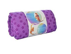 Полотенце для йоги MS 2750(Violet) Фиолетовый полотенце, 183-61см, в чехле, 23-9-9см