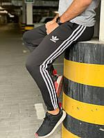 Утеплённые спортивные штаны Adidas 3 Stripes Черные
