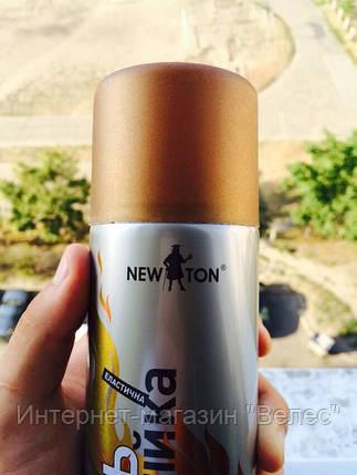 Краска жаростойкая Newton Золотистая 400мл, фото 2