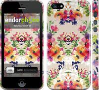 """Чехол на iPhone 5s Цветочный узор """"1083c-21"""""""