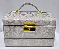 Шкатулка-комод с ключиком для украшений, серебрянного цвета с узорами, фото 1