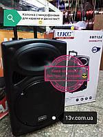"""Колонка с акуммулятором  UKC 15"""" 2 радио микрофона USB FM UKC BT15 наличие Киев (есть самовывоз ), фото 1"""