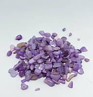 """Натуральный камень. Шлифованный перламутр, цвет """"Прованс лавандовый"""", фракция 2-5 мм. Уп. 50 г"""