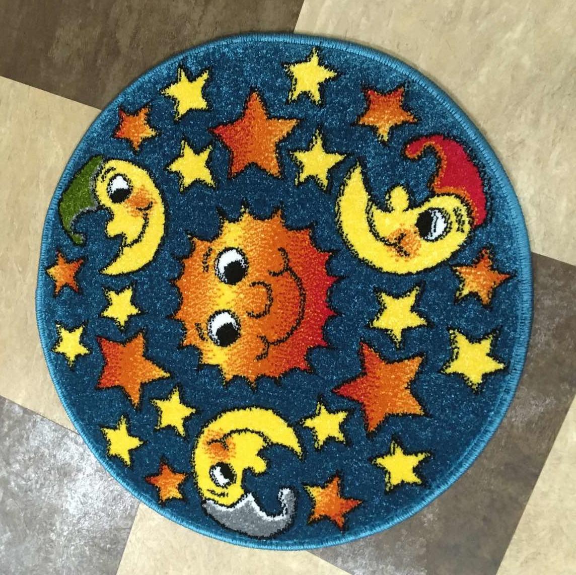 Коврик детский Kolibry Ночь 67×67см