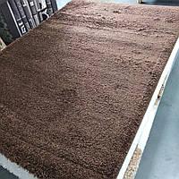Коврик с высоким ворсом коричневый 1.60х2.30 м.