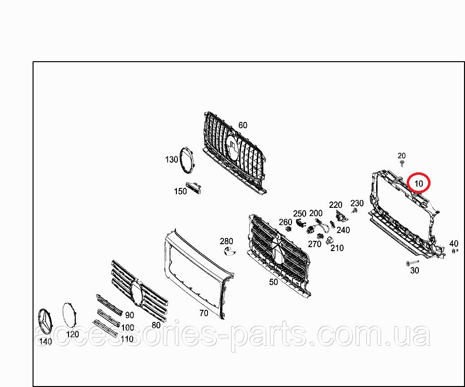Рама решетки радиатора Mercedes-Benz G-Class W463/ 464 G63 AMG Новая Оригинальная