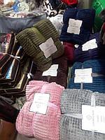 Покрывало-плед бамбуковый Кубик меховый Евро размер, 200х230см, цвета разные, в сумке, фото 1