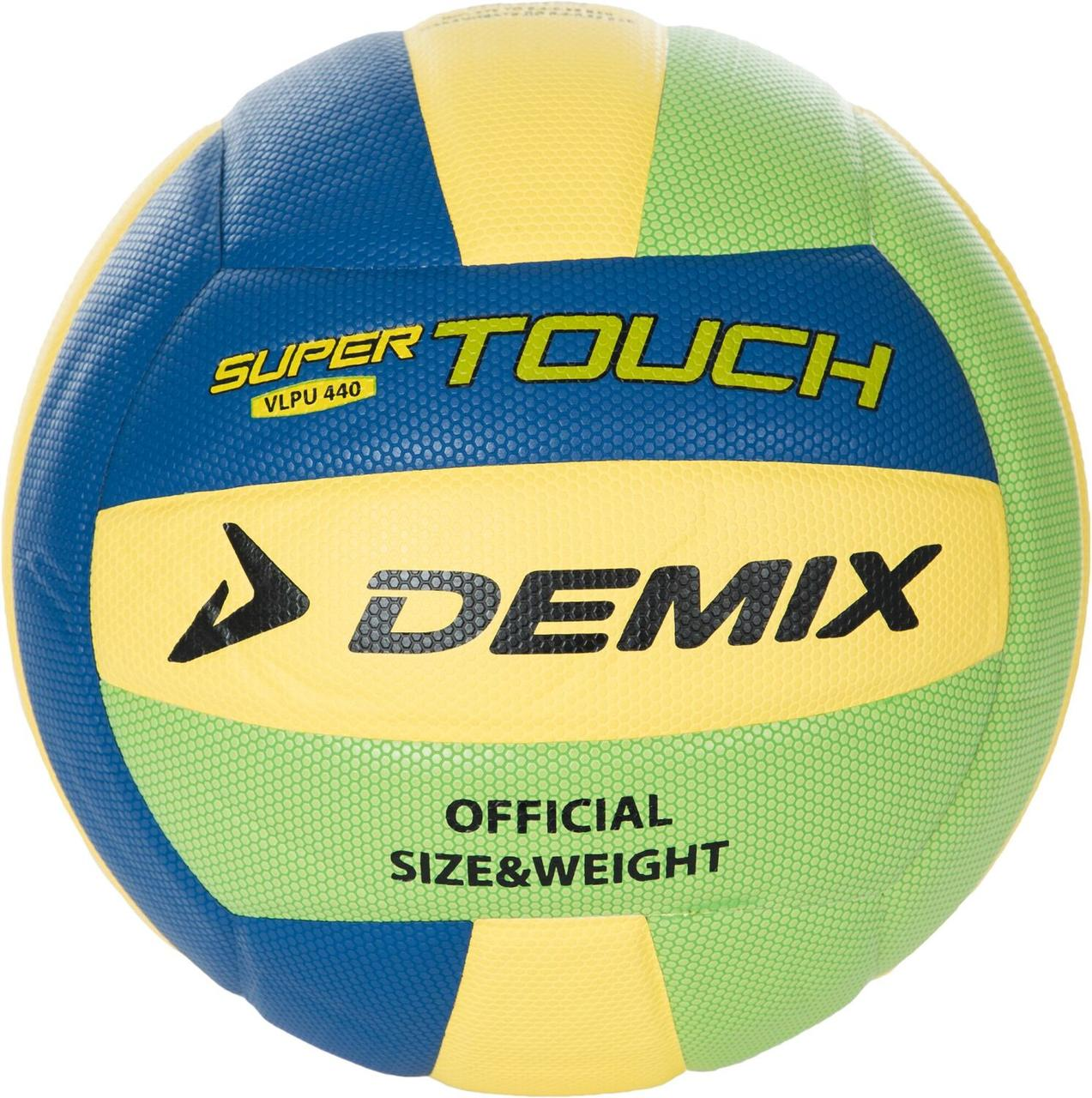 Мяч волейбольный Demix, сине/зелено/желтый, 5
