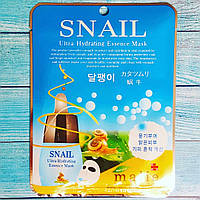 Корейская тканевая улиточная маска Malie Snail Ultra Hudrating Essence Mask 25мл