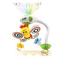 Детская музыкальная карусель мобиль на кроватку с проектором WEN SHENG Пчелка WS6805